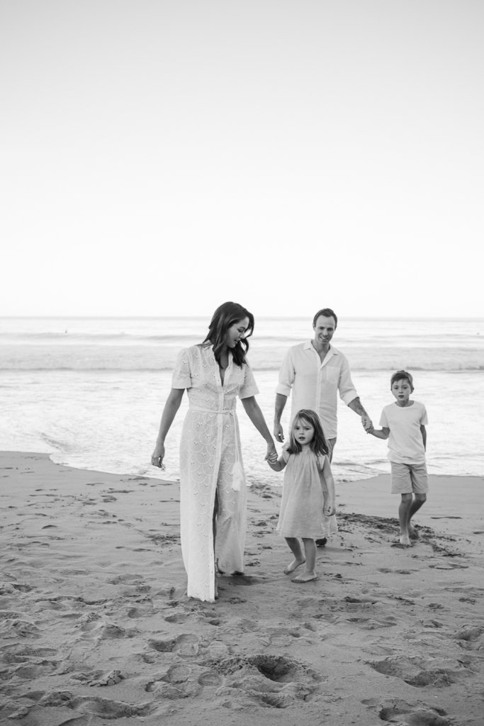Sunsetshoot at the beach of Mona vale with the family of Damon & Sigourney Cantelo